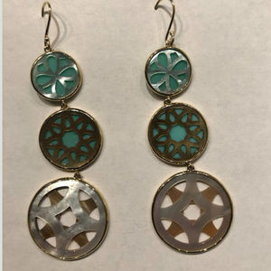 Ippolita Gold/Turquoise/Mother-of-Pearl earrings